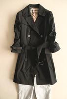2014 autumn three quarter sleeve medium-long casual clothing female outerwear