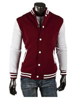 2014 Hot Men's Jacket Baseball Fashion Jackets Coat Male Outwear Jackets Free Shipping MWK025