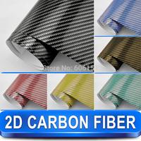 Free Shipping Wholesale 2d Carbon Foil Car Vinyl Wrap For Car Wrap1.52x 30 Meters  with Air Drain
