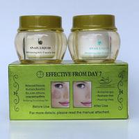wholesale 2014 New Arrival FEIQUE snail liquid whitening anti freckle cream 20g+20g 50 sets/lot face care