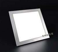 Ultra thin 24W LED Recessed Ceiling Grid Square Round Panel Light Downlight free shipping