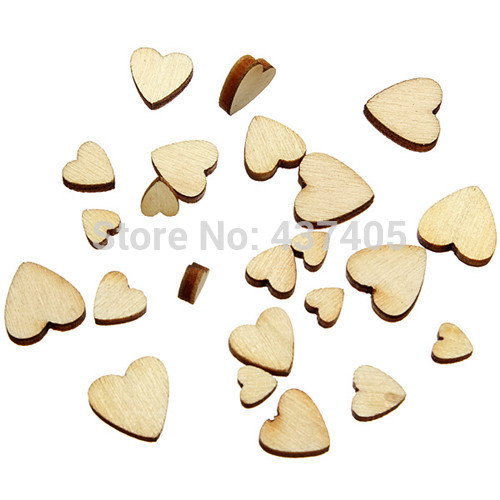 60pcs/pack Mini Love Heart Wood 0.5-1.1cm Charms Appointment Wedding Decoration Making Scrap Booking Craft Card Free Shipping(China (Mainland))