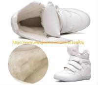 Hot!Superstar Women High Leg Hook&Loop Inside Increasing Sneakers Autumn Winter Warm Sport Shoes Big Size 34-42(More Colors)