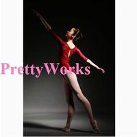 3/4 Sleeve Dancewear Ballet Leotard  Lace adult ballet young girl ballet dance clothes ballet leotard gym suit adult  J-0222