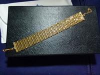"2014 New One Direction Bracelets For Women Width 20mm 18k Filled Gf Cool W Solid Bracelet Women's Chain 7.5"" L. Free Shipping"