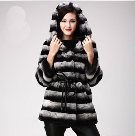 Chinchilla Rabbit Fur Coat Rabbit Fur Coat Chinchilla