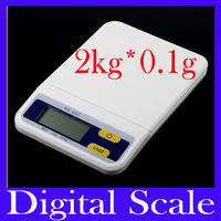 Free shipping 2000g/0.1g 2kg Food Diet Postal Kitchen Digital Scale , balance weight, weighting LED electronic wh-b07,MOQ=1