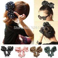 Lovely Big Rabbit Ear Bow Headband Headwear Hair Ribbons Ponytail Holder Hair Tie Band Korean Style Women Accessories