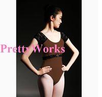 short Sleeve Dancewear Ballet Leotard  Lace adult ballet young girl ballet dance clothes ballet leotard gym suit adult  J-0224