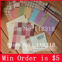 (1 Lot =4 Sets=8 Envelopes+16 Letter Paper) DIY Scrapbooking Paper Envelopes Vintage Gift Envelope Wedding Envelope