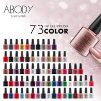 Abody 7.3ml Soak Off Nail Gel Polish Nail Choose 3pcs from 73 Colors + 1 TOP + 1 BASE