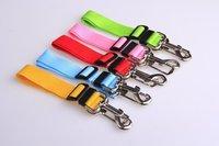 Nylon Band Dog Pet Car Travel Safety Belt Seat Clip Seatbelt Fixed Leash Adjustable Various Colors 30pcs/lot