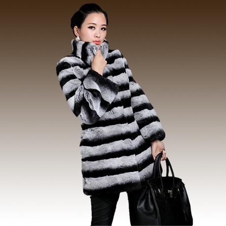 Hot Sale ! New 2014 Women Fashion Luxury Top Natural Rex Rabbit Fur ...