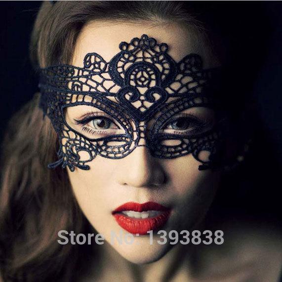 1Pcs Halloween Masquerade Sexy Lady Lace Mask cutout mask Party White Black(China (Mainland))