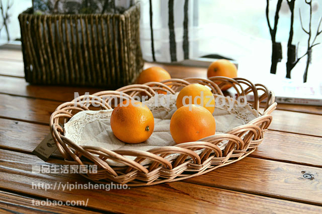 natural fruit wicker tray with lining inside(China (Mainland))