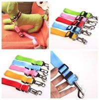 Nylon Band Dog Pet Car Travel Safety Belt Seat Clip Seatbelt Fixed Leash Adjustable ems dhl free 100pcs/lot