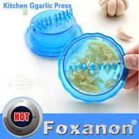 Garlic Crusher Peeler Spice Mincer Stirrer Presser Slicer Ginger Clear Kitchen Tool Garlic Presses Medical food-grade plastic
