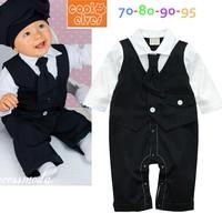 Vest long-sleeve romper style baby gentleman bodysuit 0713 sylvia ts