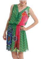 2014 Summer Women Dress Casual Print Geometric Striped Dress Sexy Party Floral Dress O neck Bohemian Celebrity Lady Dress DG016