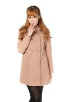 Mao Nenv's double breasted coat woolen coat Korean female winter coats