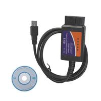 wholesales ELM327 V1.5 interface OBD/OBDII scanner ELM 327 USB code reader diagnostic tool