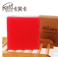 face cleaning soap no chemicals  stawberry fruit soap  dark spot clear  skin treatment hotsale freeshipping