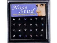 Free Shipping 48pcs 316L Surgical Stainless Steel Triangle Nose Stud Body jewelry Piercing stainless steel piercing nostril