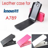 Original Lenovo A789 Leather Case Ultra Slim Business Flip Cover Dirt-resistant Good Quality Black  White Rose Color