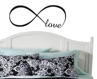 LOVE INFINITY wedding bedroom-Art Vinyl DIY wall sticker decal decor quote lettering home room kitchen decoration