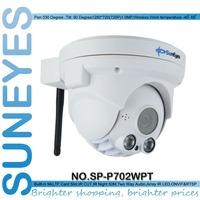 SunEyes  SP-P702WPT Wifi Wireless Pan/Tilt Dome IP Camera ONVIF 720P HD with TF/Micro SD Card Slot Two Way Audio Array IR Night