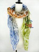 Wholesale 2014 New Fashion Women Cashew Butterfly Print Long  Scarf Elegant Cotton Scarves Neck Wrap Stole Neckerchief 5 Colors