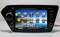 "8"" Car DVD GPS For  KIA RIO 2012 K2 2011-2012 Navigation TV Ipod Radio 3G Russian Menu language Free GPS Map Free shipping"