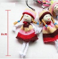 Mini Plush Dolls Cartoon Toys Christmas Gifts Decorations Mobile Phone Bags Pendant 12pcs/lot