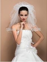 Free Shipping Pearls White Ivory Wedding Bridal Veil Bride Hair Accessory Wedding Supplies Drop Shipping V-004(China (Mainland))
