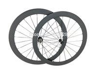 Ceramic Bearing HUB road bicycle wheels, 50mm clincher/tubular racing wheelset, bicycle wheels