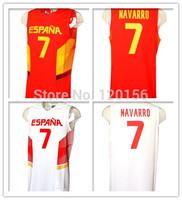 2014 Basketball World Cup Team Spain Espana #7 Juan Carlos Navarro 2 Colors  New Material Sport Shirt  Size:S-XXXL Free Shipping