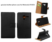 High qualityr genuine leather phone case for Motorola XT1053 Stand Case Cover For Moto X XT1055 phone cover case