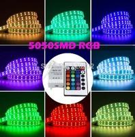 5050 Waterproof RGB 5M 600 led Double Row 5050 Waterproof RGB LED Strip 600LEDs 120LEDs/M + 24Key Remote Controller