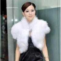 2014 Winter Sleeveless Women's Luxurious Vest Jacket Fashion 8 Colors New High Quality Warm  Faux Fur Short Vest  Waistcoat E 79