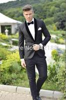 Custom Design One Button Charcoal Gray Groom Tuxedos Shawl Black Lapel Best Man Groomsman Men Wedding Suitswedding men clothes