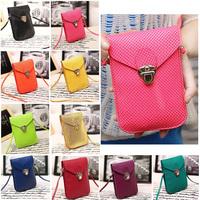 Fashion Rose Women Mini cross body bags Cell Phone Bag bolsas de marca PU Leather Plaid Purse Messenger Bag Shoulder Bag