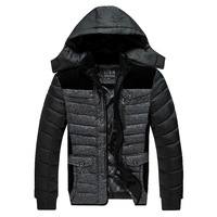 2014 new men's solid color men's winter jacket warm coat Korean Slim Down genuine slim and lightweight outer wear-season special