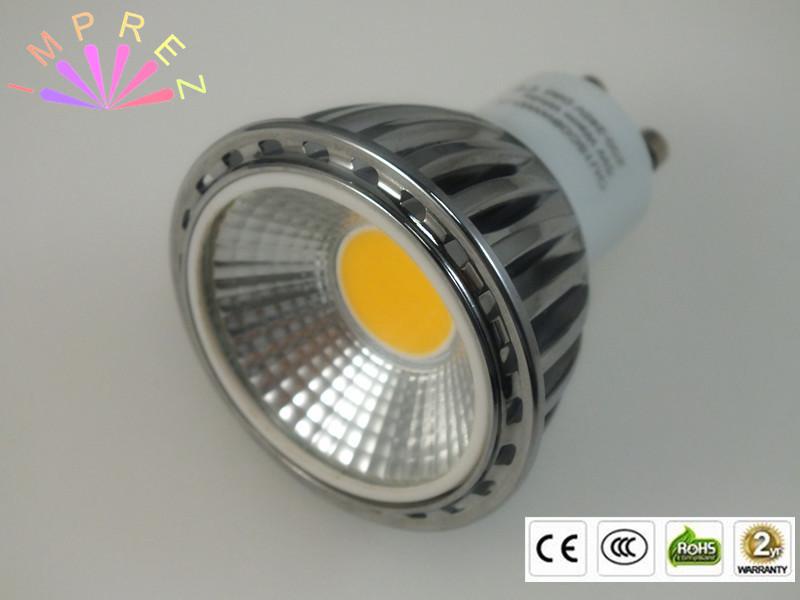 100pcs LED COB Spot Bulb 5w GU10 Spotlight Bulb Lamp High power AC85-265V warm white/ Cold white LED COB light bulb(China (Mainland))