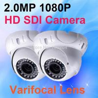 Security Camera Full HD SDI 1080P 2.1 Megapixel Varifocal Lens WDR,Motion Detection,IR CUT Vandalproof Dome CCTV Camera