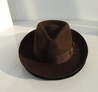 Brand 100% wool fedora felt hat Black Panama hat men vintage jazz 6.5cm brim classic trilby hat new 2014 solid