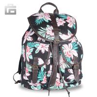 Faddish Flower Girl Women Campus Shoulder School Canvas Satchel BackPack Bag