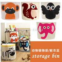 Children's toys, cartoon animals pouch oversized canvas storage bag stolen clothes basket wholesale storage bin