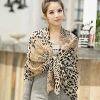 New Arrival Brand Designer Women Ladies Leopard Chiffon Silk Scarfs Scarves Shawl Pashmina Ladies Comfort 160x62cm Free Shipping