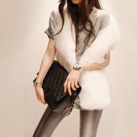 2014 New Fashion Ladies Faux Fur Vest Winter&Autumn Sheer Slim Soft Elegant Women Coat Colete De Pelo Free Shipping WWC068
