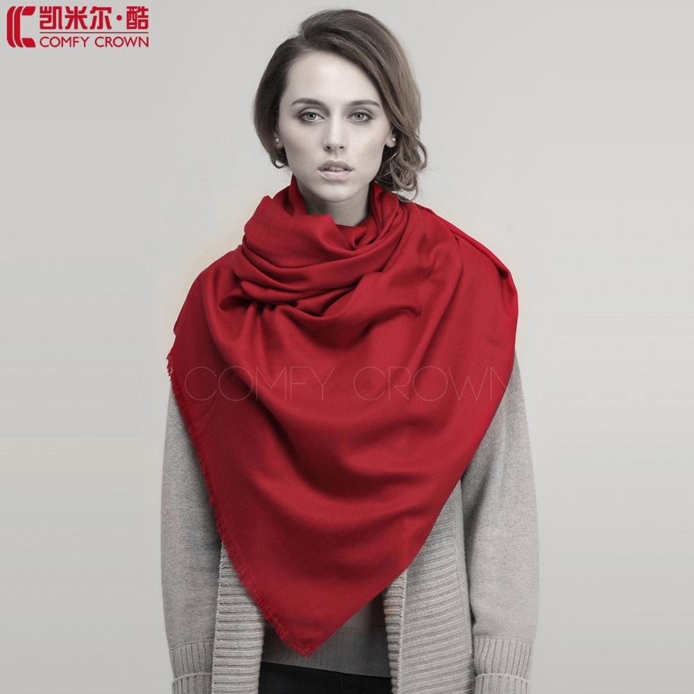 2014 New scarf Large Size Twill wool scarf 100% Pure Wool Scarf SWW709 fashion plain wool scarf ladies shawl pashmina(China (Mainland))